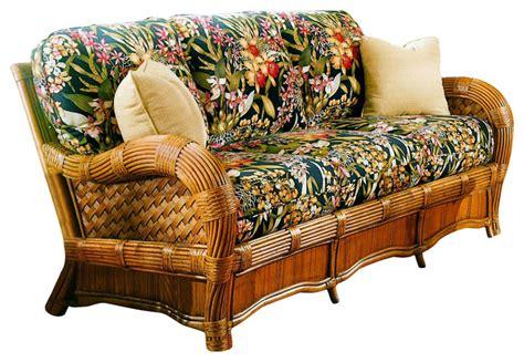tropical sofa kingston reef sofa in cinnamon beach lily fabric