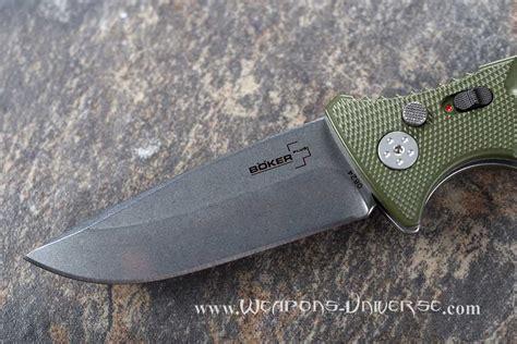 boker auto knife boker 402n plus strike automatic knife green spearpoint