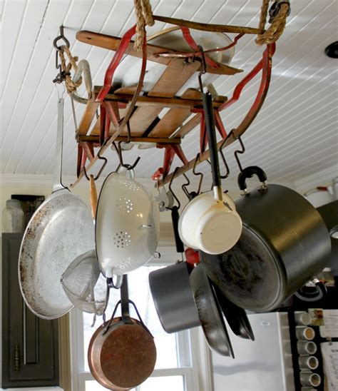 rustiques pot rack ideas kitchen storage ideas how to make your own pot rack