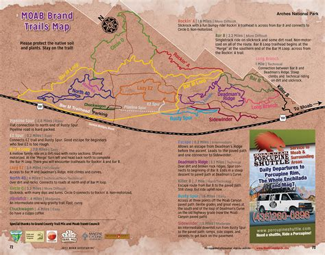 moab jeep trails map moab trail maps for hiking biking and 4x4 guestguide