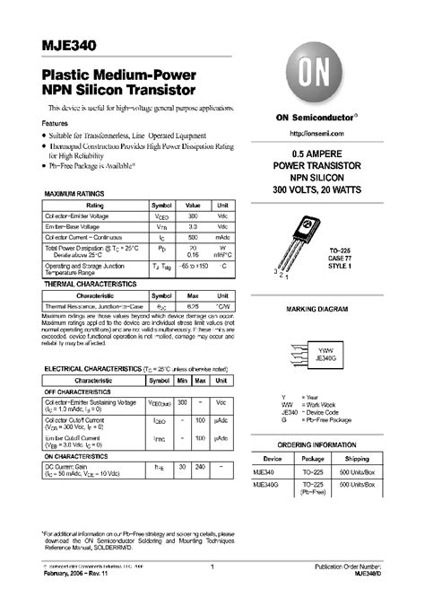 transistor mje340 datasheet mje340 5061239 pdf datasheet ic on line