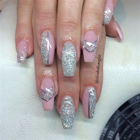 Silver Nail Striping