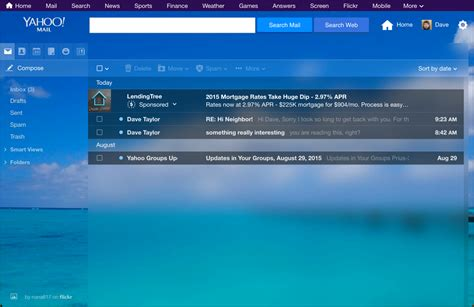 yahoo mail how to change layout change my yahoo mail theme and background ask dave taylor