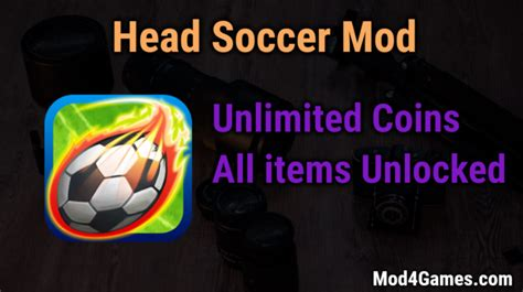 download game head soccer mod apk unlocked head soccer mod unlimited money all items unlocked