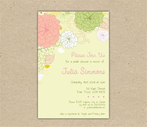 printable wedding shower invitations templates printable wedding shower invitations template best
