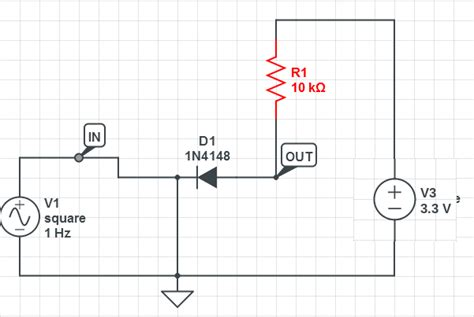 diode based circuits transistors is this a 5v to 3 3v level converter electrical engineering stack exchange