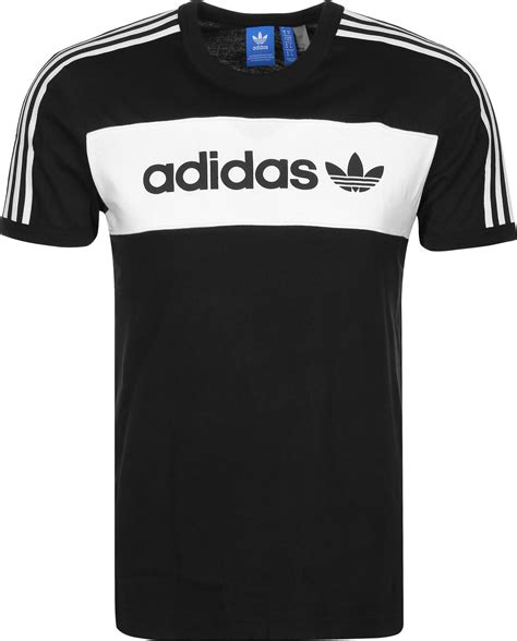 Adidas T Shirt Tshirt Black adidas block t shirt black white