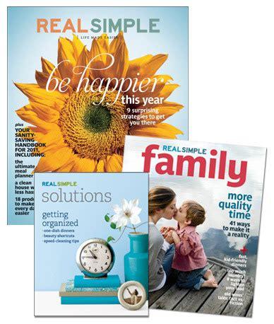 real simple magazine real simple magazine subscription booklet for 20 bargain shopper