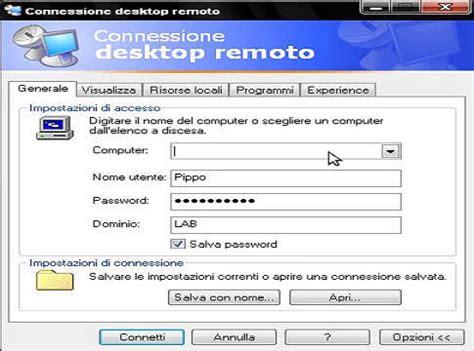 porta per desktop remoto come mettere e gestire un computer in una rete lan oppure