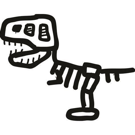 Cartoon Tyrannosaurus Rex Skeleton Dinosaur Kids Wall