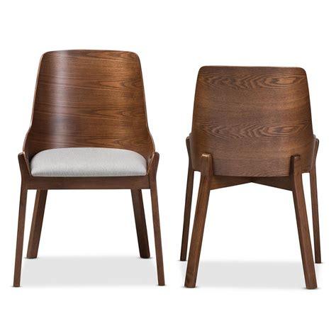 Baxton Studio Dining Chairs by Baxton Studio Rye Light Grey Fabric Dining Chair Set Of 2