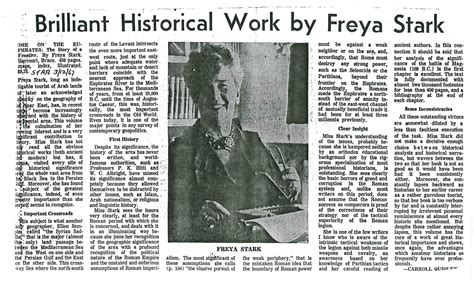 Book Review By Freya by Brilliant Historical Work By Freya Stark A Book Review