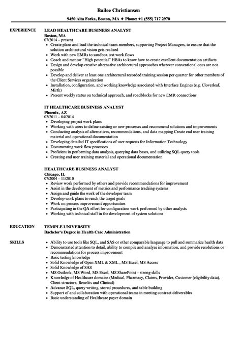 Free Resume Templates For Business Analyst cool sle business analyst resume pictures inspiration