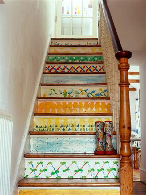 Painted Stairs Design Ideas 25 Pretty Painted Stairs Ideas Home Design And Interior
