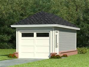 Single Car Garage by One Car Garage Plans Single Car Garage Plan With Hip