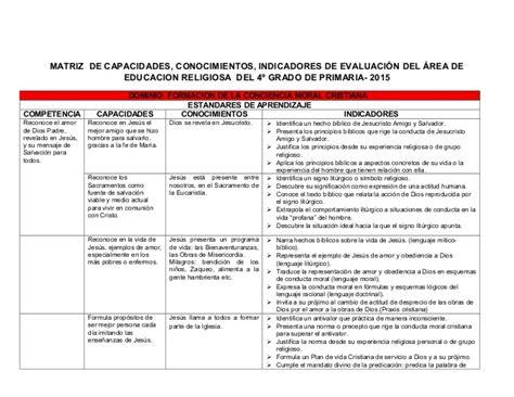 matriz de competencias y capacidades del nivel inicial 2015 matriz de competencias capacidades e indicadores 2015 del
