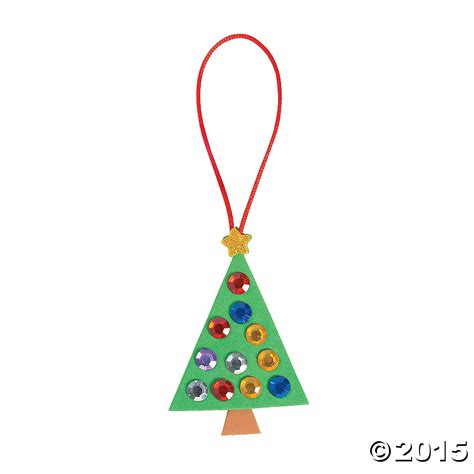 jewel christmas tree ornament craft kit 12 pk party