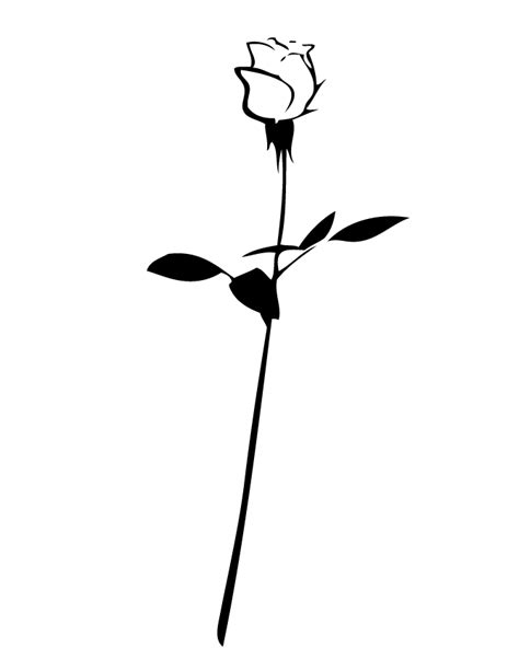 long stem rose coloring page free printable coloring