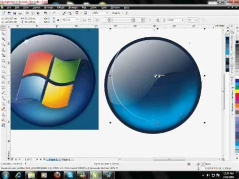 tutorial corel draw x5 romana corel draw x5 tutorial window 7 logo youtube