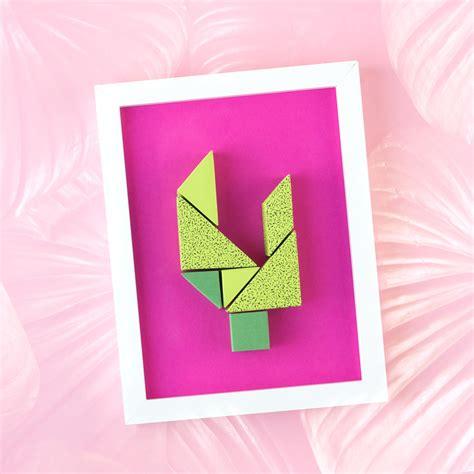 coole wanddeko coole wanddeko diy aus papier kaktus tangram papershape