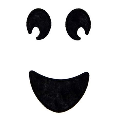 applique only happy ghost face