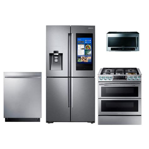 samsung 4 samsung kitchen appliance package with gas