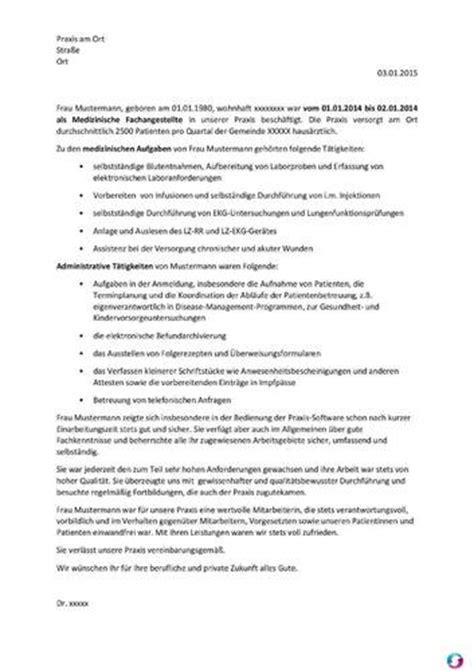 Dienstzeugnis Praktikum Vorlage Arbeitszeugnis Medizinische Fachangestellte Fr 252