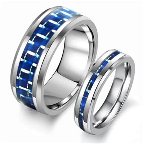His And Hers Matching His Hers Matching Tungsten Rings Wedding Band Yoyoon