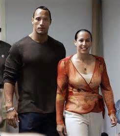 Actor dwayne quot the rock quot johnson left and wife dany garcia johnson