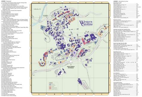 carolina college map western carolina wcu maplets