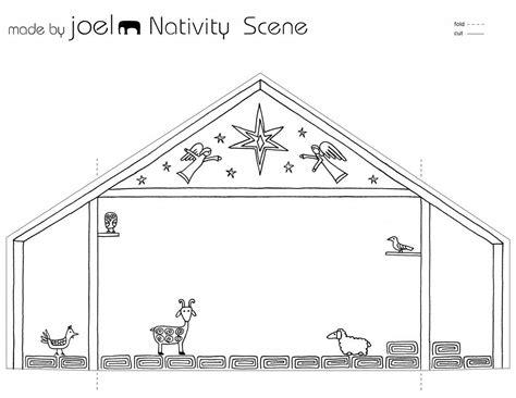 printable paper nativity made by joel paper city nativity scene template kids craft