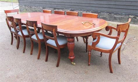10 Chair Dining Table Set Mahogany Dining Set Extending Table And 10 Chairs Antique Dining Tables