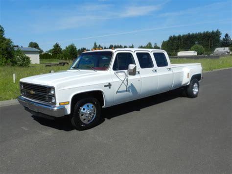 1983 Chevrolet C30 Silverado Crew Cab Pickup 6 Door 7.4L One Of A Kind Must See! Classic