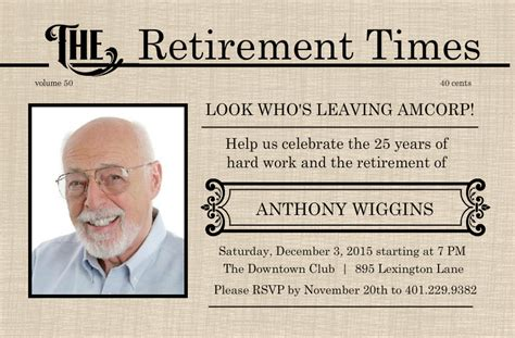 best photos of retirement flyer template for word