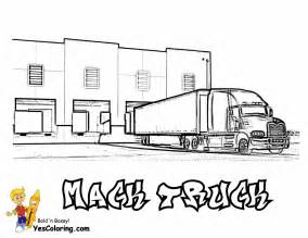semi truck coloring pages big rig truck coloring pages free 18 wheeler boys