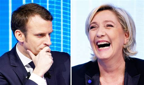 emmanuel macron marine le pen marine le pen s french election victory is likely admits