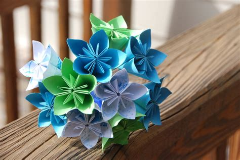 Origami Wedding Flowers - origami wedding bouquet by lisadeng on deviantart