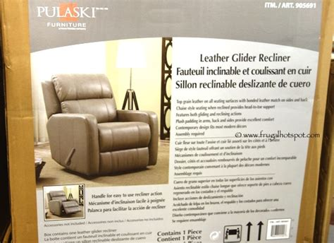 costco recliner 399 costco pulaski leather glider recliner 399 99 frugal