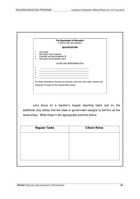 Module 5 School And Community Partnership Ivcdv Chart Template