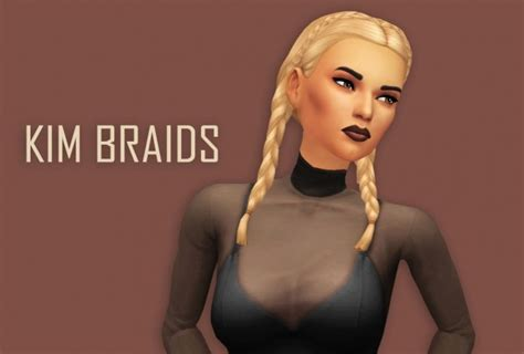 sims 4 female braids kim braids at primadonna sims 187 sims 4 updates