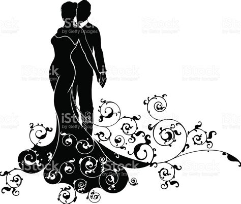 Wedding And Groom Vector by And Groom Abstract Wedding Silhouette Design Stock