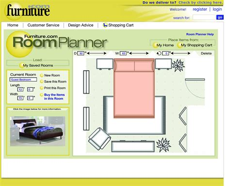 furniture planning tool interactive online room planner from furniture com helps