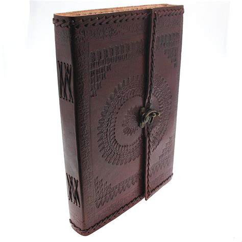 Handcrafted Journal - handcrafted indra hefty embossed leather journal by paper