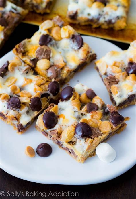 peanut butter 7 layer bars peanut butter jelly white chocolate bars sallys baking