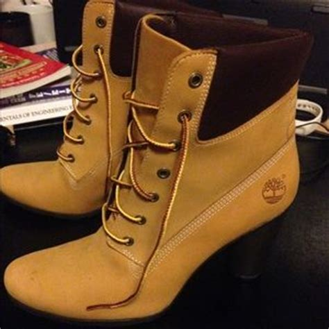 timberland high heel work boots timberland lace up wedge heel boots bye bye laundry