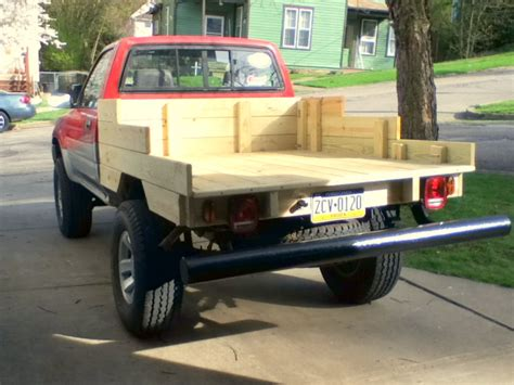 wooden truck bed wood bed photos design yotatech forums