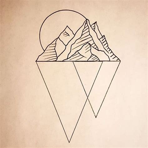 geometric tattoo california tattoodesign available geometrictattoo mountain tattoo