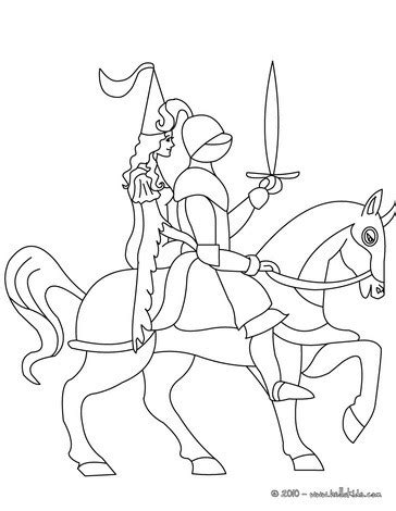 coloring pages knights and princesses knight on horseback with a princess coloring pages