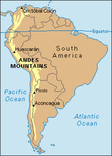 andes mountains map rahala club the andes south america the world s