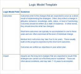Logic Templates by Sle Logic Model 11 Documents In Pdf Word